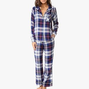 Plush Women's Ultra Soft Long Sleeve Plaid PJ Set